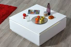 table basse electra laque blanche blanc brillant