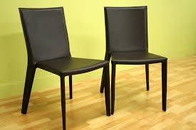 baxton studio semele dark brown leather dining chair set of 2