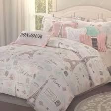 Jcpenney Teen Bedding by 7pc Paris Bedding Set Eiffel Tower Pink Aqua Twin Comforter Sheet