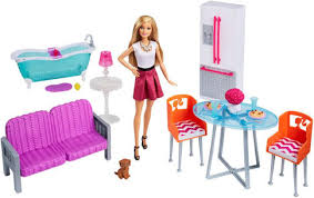 Barbie Doll & Furniture Giftset Toys