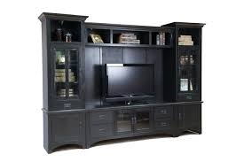 Black High Gloss Polished Media TV Stand Entertainment Center With