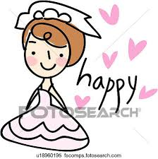 450x451 Clipart of people marriage wedding veil bridal veil happy