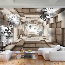 vlies fototapete 3d abstrakt kugel tunnel tapete wandbilder