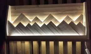 berge im licht led bilder holzbilder holz