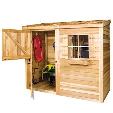 How To Build A Lean To Shed Plans Free by Shop Cedarshed Common 8 Ft X 4 Ft Interior Dimensions 7 75 Ft