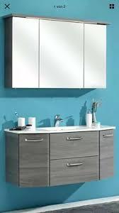 badezimmermöbel 2 teilig mit glas waschtisch