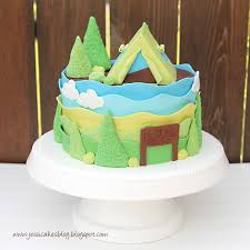 Camping Tent Baby Shower Cake and Tutorial Jessica Harris Cake