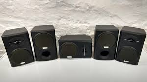 Sonos Ceiling Speakers Ebay by Five Kenwood Ks 305ht Surround Sound Speakers Ebay