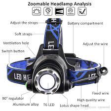 ru 5000lm cree xml l2 xm l t6 led headl zoomable headlight