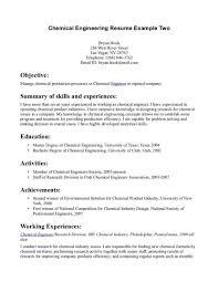Creative Idea Chemical Engineer Resume 13 17 Engineering