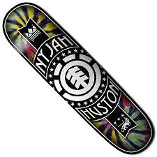 element nyjah huston rasta deck in stock at spot skate shop