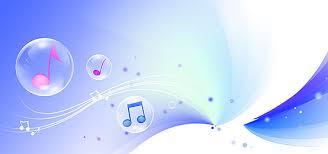 Musical Background Dynamic Poster Design Blue Image