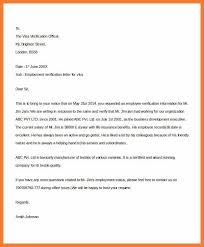 5 6 employment verification letter