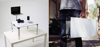 ZestDesk Portable standing desk in a pact carrying case HomeCrux