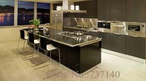 achat chinois cuisine noir laque armoires de cuisine foshan meubles usine de haute qualité