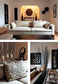 African Themed Living Room Decor Graphic Shapes Nature Inspired Clean Safari