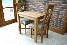 Compact Kitchen Table Small Rustic Dining Oak