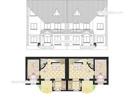 100 Semi Detached House Design Type Of Houses Dwg Models Free Download