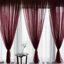 lichtdurchlässig voile vorhang gardinen dekoschal für