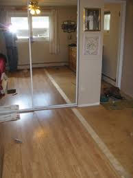 Tile Removal Crew by Wood And Tile Floor And Removing A Door Carpentry And Other Skills