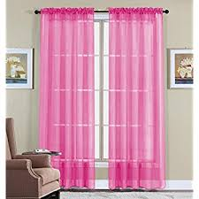Pink And Purple Ruffle Curtains by Amazon Com Lush Decor Nerina Window Curtain 84 By 54 Inch Pink