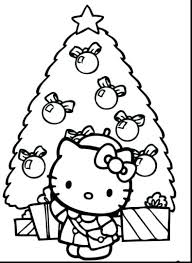 Hello Kitty Coloring Pages Printable Christmas Kitten