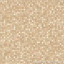 Image Is Loading CHEAP Beige Amp White Vinyl Flooring Modern Mosaic