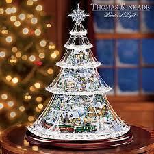 Thomas Kinkade Christmas Tree Cottage by Gift Idea Thomas Kinkade Holiday Reflections Collectible Animated