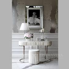 konsole silber modern klassisch weiß für den flur wohnzimmer silber