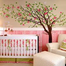 Pink Colours Baby Nursery Wall Decor Paint Backdrops Mobiles Toy Branches Cools Ornamental Petal Classical