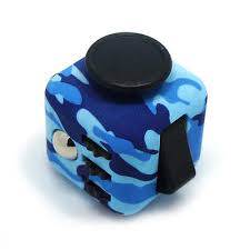 NEW 2017 Fidget Cube Anxiety Stress Relief Focus Toy Gift Camouflage Blue Black