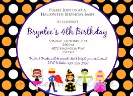 Free Halloween Invitation Templates Microsoft by Halloween Kidsa 5x7 Halloween Party Birthday By Madewithlovejj