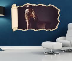 3d wandtattoo erotik frau fesseln korsett maske schlafzimmer wand aufkleber sticker 11o1498 p 3dwandtattoo24 de