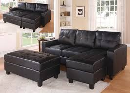 Buchannan Faux Leather Sectional Sofa by Black Faux Leather Sectional Sofa With Reversible Chaise And