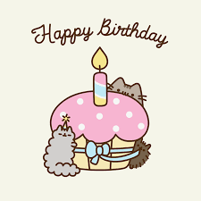 Great Cat Birthday Cake Gif 52 About GIF Pusheen Cat We Heart It See