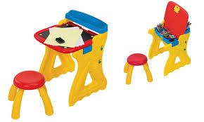 Crayola Wooden Table And Chair Set by Crayola Table Or Easel Art And Craft Set Groupon
