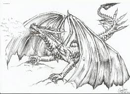 Cartoon Printable Fire Dragon Coloring Pages Tone