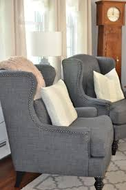 World Market Luxe Sofa Slipcover Charcoal by Charcoal Oscar Chair Living Rooms Room And Wingback Chairs