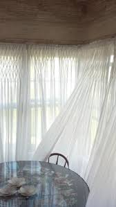 Smocked Burlap Curtain Panels by Oh My Word Smocked White Organdy Curtain Panels Dreamy 42