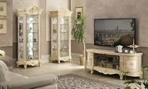 wohnzimmer set wohnwand mediawand 2xglasvitrine lowboard