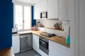 cuisine blanche plan travail bois cuisine blanche 30 photos pour mettre du blanc dans sa cuisine
