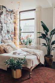 bright bedroom with collage wall decorations bedroom