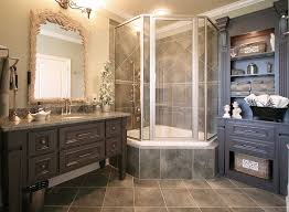 French Country Bathrooms Bathroom Mediterranean With Chandelier Traditional Mosaic Tiles