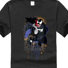 100 Conrad Design Cotton T Shirt Short Sleeve Marvel Ultimate Spiderman Halloween Venom T Shirt Welcome Hell Tops Custom Teesin TShirts From Mens