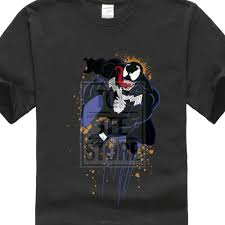 100 Conrad Design US 899 10 OFFCotton T Shirt Short Sleeve Marvel Ultimate Spiderman Halloween Venom T Shirt Welcome Hell Tops Custom Teesin TShirts