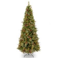 Tall Skinny Pre Lit Christmas Trees Tree Elegant Equinox Prelit Slim Tattinger