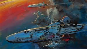 Vintage Space Concept Art Fantasy Artwork Spaceship
