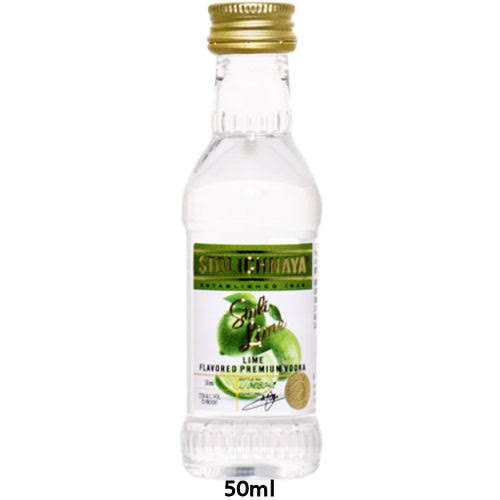 Mini Stolichnaya Lime Flavored Russian Vodka 50 ml