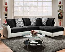 black and white couch pattern pillows zigzag 2 piece sectional