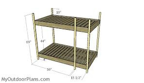 triple bunk bed plans myoutdoorplans free woodworking plans